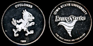 Iowa State Cyclones (1985) Silver Round