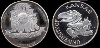 Univ of Kansas NCAA Final Four (1991) Silver Round