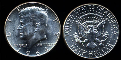 90% Silver 1964 Uncirculated Half Dollars