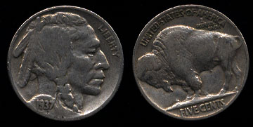 Buffalo / Indian Head Nickels