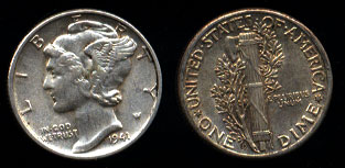 Winged Liberty Head (Mercury) Dimes