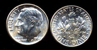 Silver Roosevelt Dime Sets