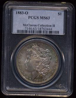 Pcgs Ms63 1883 O Morgan Silver Dollar