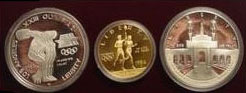 1983/84 Olympics Three Coin Proof Set