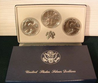 Uncirculated 1984 Olympic Silver Dollar Set