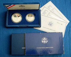 1986 Statue of Liberty Two Coin Proof Set
