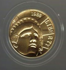 1986 Statue of Liberty Five Dollar Gold Coin