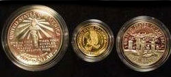 1986 Statue of Liberty Three Coin Proof Set