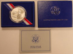 1986 Statue of Liberty Uncirculated Silver Dollar