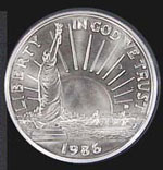 1986 Statue of Liberty Uncirculated Half Dollar
