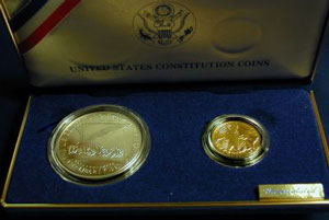 1987 ConstitutionTwo Coin Uncirculated Set