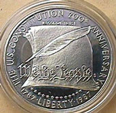1987 Constitution Dollar Proof