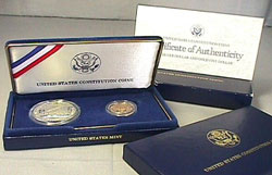 1987 ConstitutionTwo Coin Proof Set
