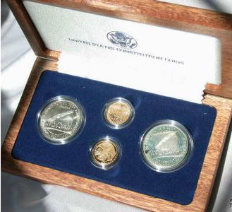 1987 Constitution Four Coin Set