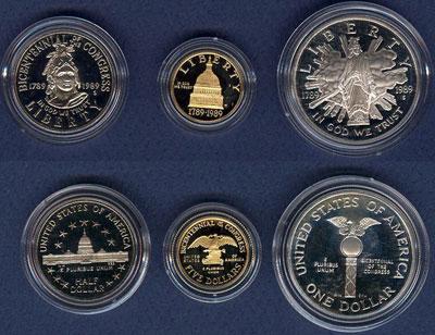 1989 Bicentennial of Congress Coins