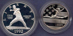 1992 Olympics Two Coin Proof Set