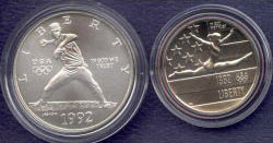1992 Olympics Two Coin Uncirculated Set