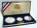 1993 Bill Of Rights Three Coin Proof Set