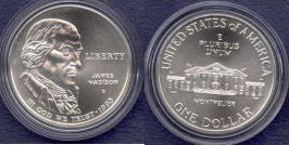 1993 - D James Madison / Bill of Rights Uncirculated Silver Dollar