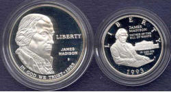 1993 Bill Of Rights Two Coin Proof Set