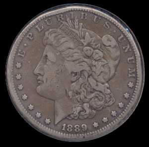 1889 - CC Morgan Silver Dollar Very Fine - 20 Details